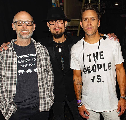 Moby, Dave Navaro and Wes Geer at the 2018 Rock to Recovery Event